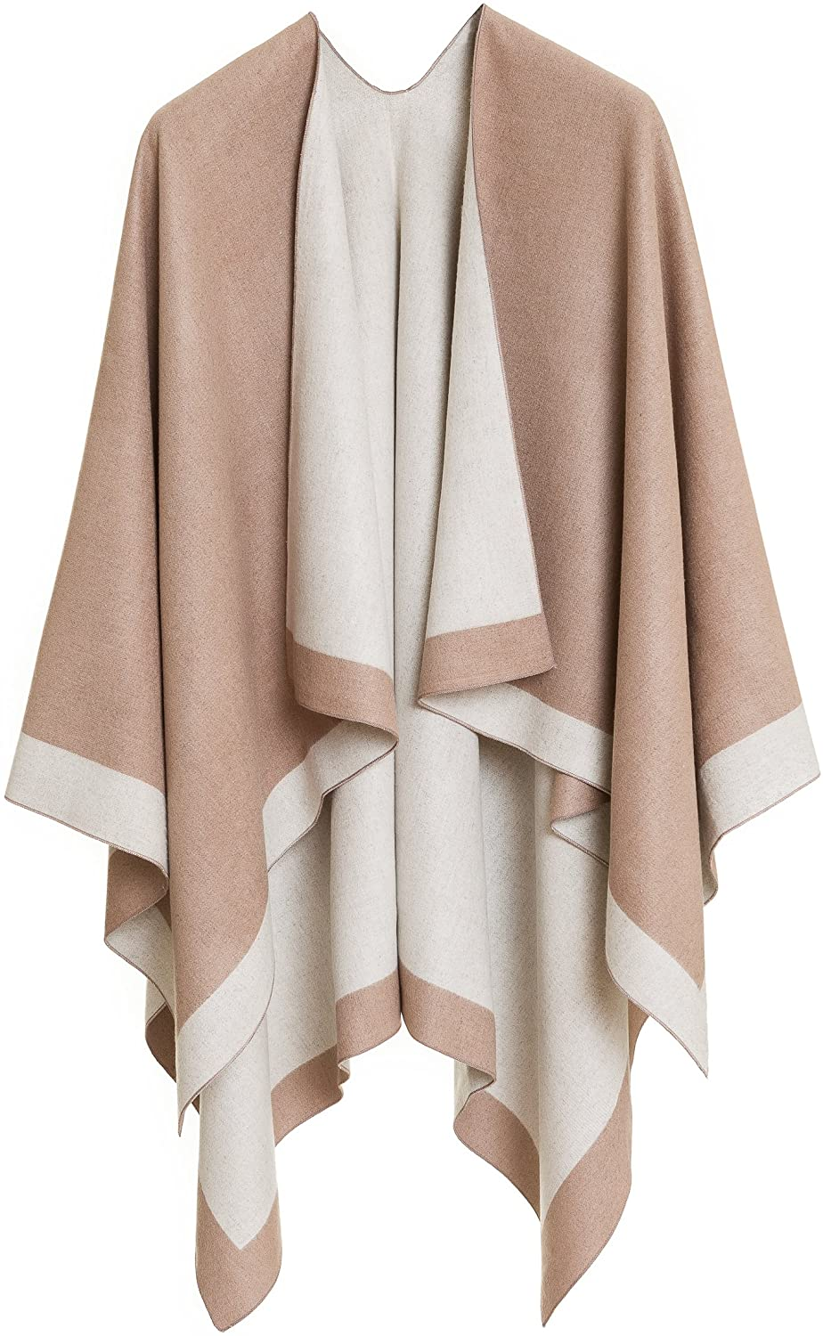 MELIFLUOS DESIGNED IN SPAIN Women's Shawl Wrap Poncho Ruana Cape Cardigan Sweater Open Front for Spring Summer
