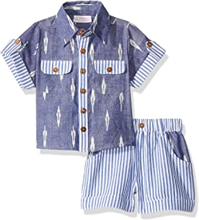 Masala Baby Baby Boys Neat 2 Pc Set Ikat Band Multi