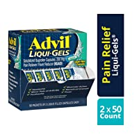 Advil Liqui-Gels Pain Reliever and Fever Reducer, Solubilized Ibuprofen 200mg, 100...