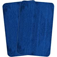 Saral Home Soft Microfiber Anti Slip Bathmat (Pack of 2, 50x80 cm)