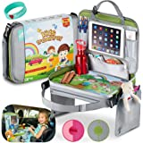 funtasit Kids Travel Tray All-in-One Carry Bag, Play Table, Storage and Tablet Holder with Detachable Back - Side…