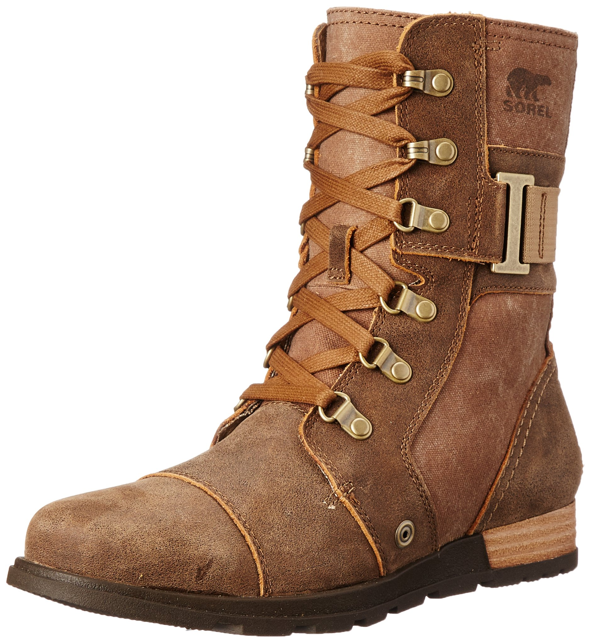 Sorel Women's Sorel Major Carly Snow Boot, Nutmeg, Flax, 8.5 B US