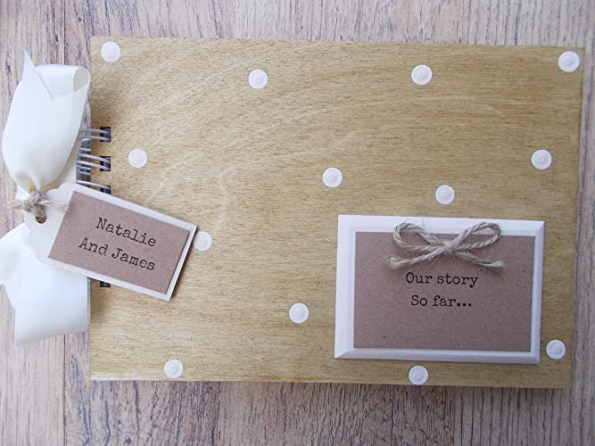 Personalised Our Story Valentines Anniversary Wooden Scrapbook Photo