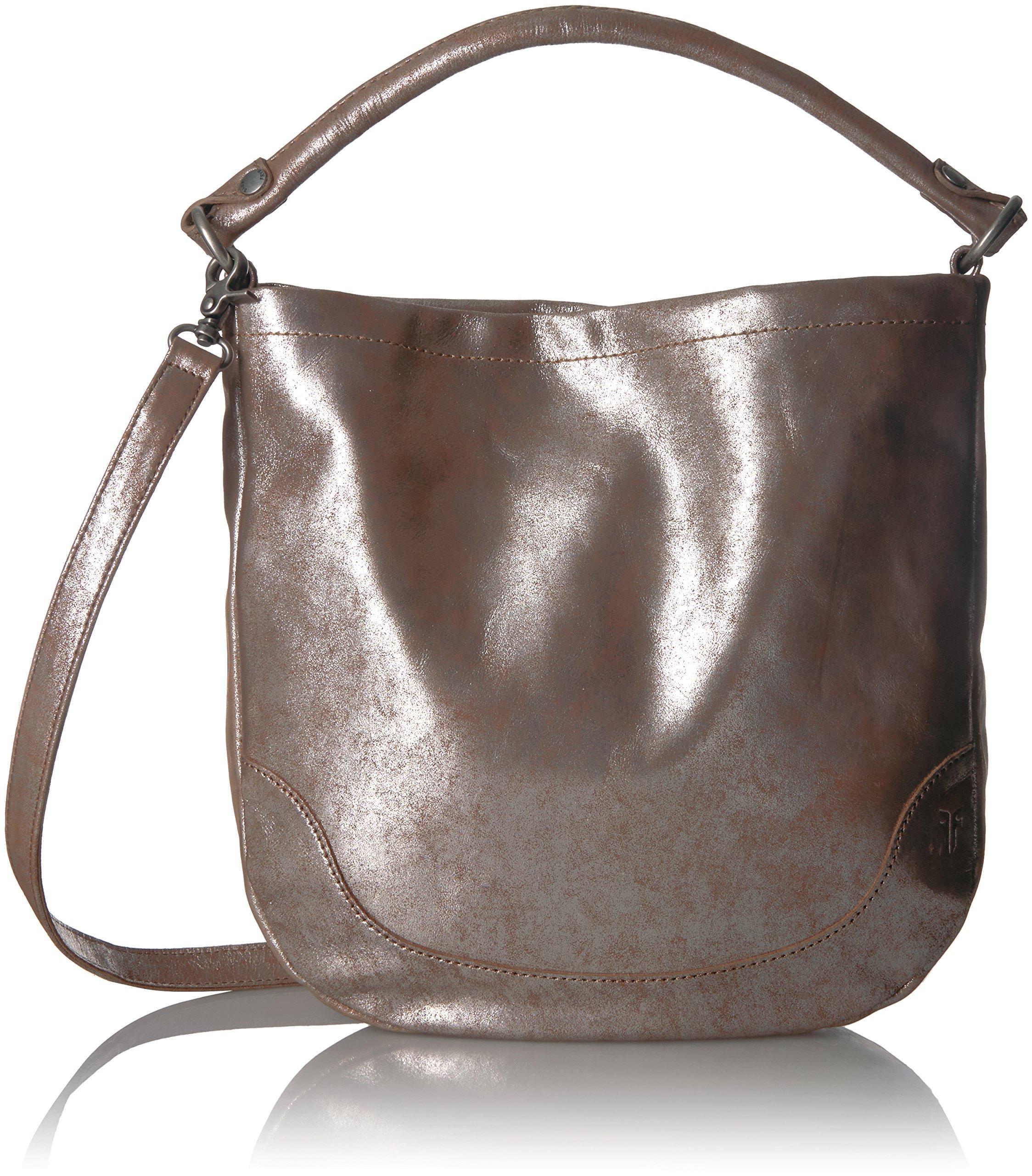 FRYE Melissa Hobo Leather Handbag, Silver/Multi