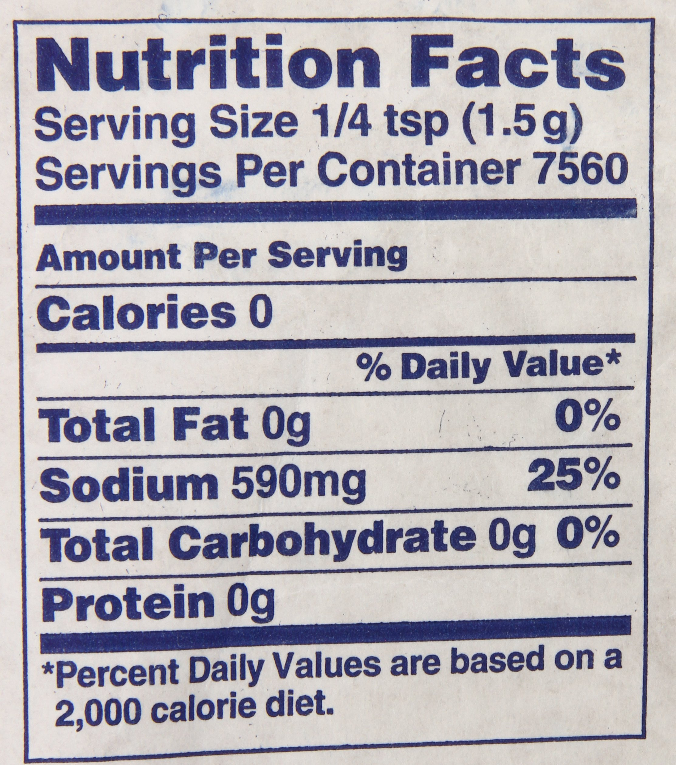 MORTON Table Salt, Bulk Salt, Foodservice, Great for Restaurants, Excellent for Cooking, Baking and Seasoning, Non Iodized Salt, Iodide Free, 25 Pound by Morton (Image #2)