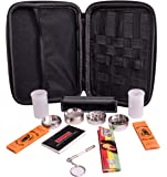 Perfect Pregame Smoker's Kit - 10 Piece Carrying Case and Accessories Bundle - Includes Grinder, Rolling Machine, Airtight Container, Rolling Papers and More - Great 420 Gift