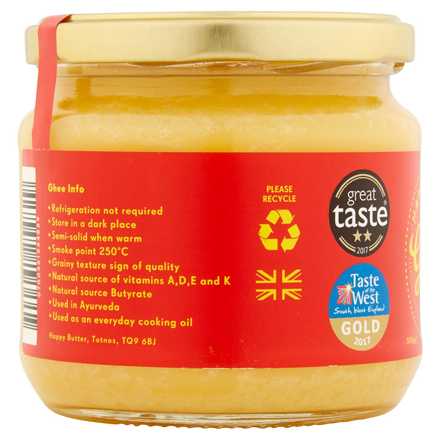 6ec3a826a83 Happy Butter Award Winning Organic Artisan Ghee 300g  Amazon.co.uk  Grocery