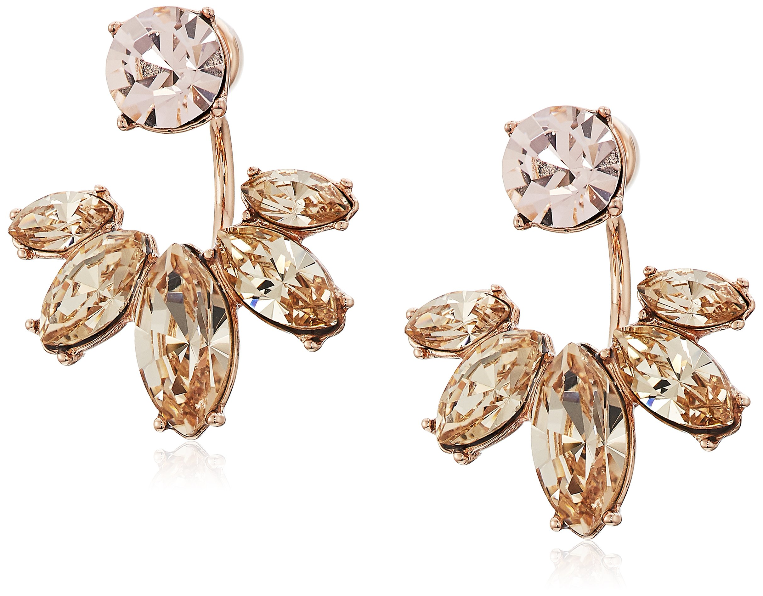 Marchesa Rose Goldstone/Blush Crystal Floater Earrings Jacket, Vintage Rose, One Size by Marchesa