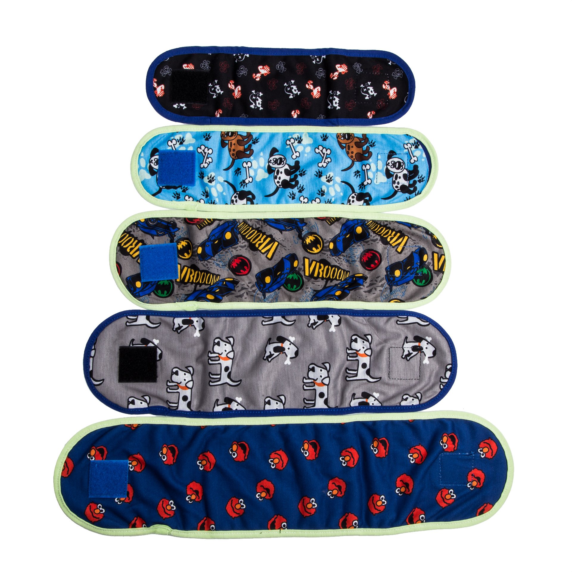 VIILER - 4 Pcs Reusable Dog Diapers and Belly Bands for Small Male Boy Dog Puppy (S: Adjustable 8.6''-9.6'' Random Colors)