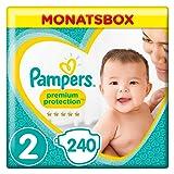 Pampers Premium Protection Baby Windeln, Gr.2 Mini (4-8kg), Monatsbox, 1er Pack (1 x 240 Stück)