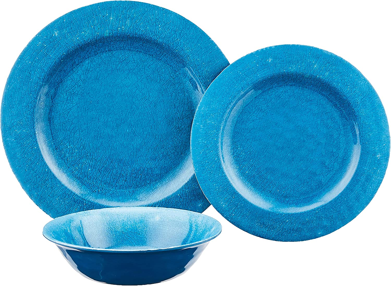 Gibson Studio 94936.12 Zoey 12 Piece Melamine Dinnerware Blue