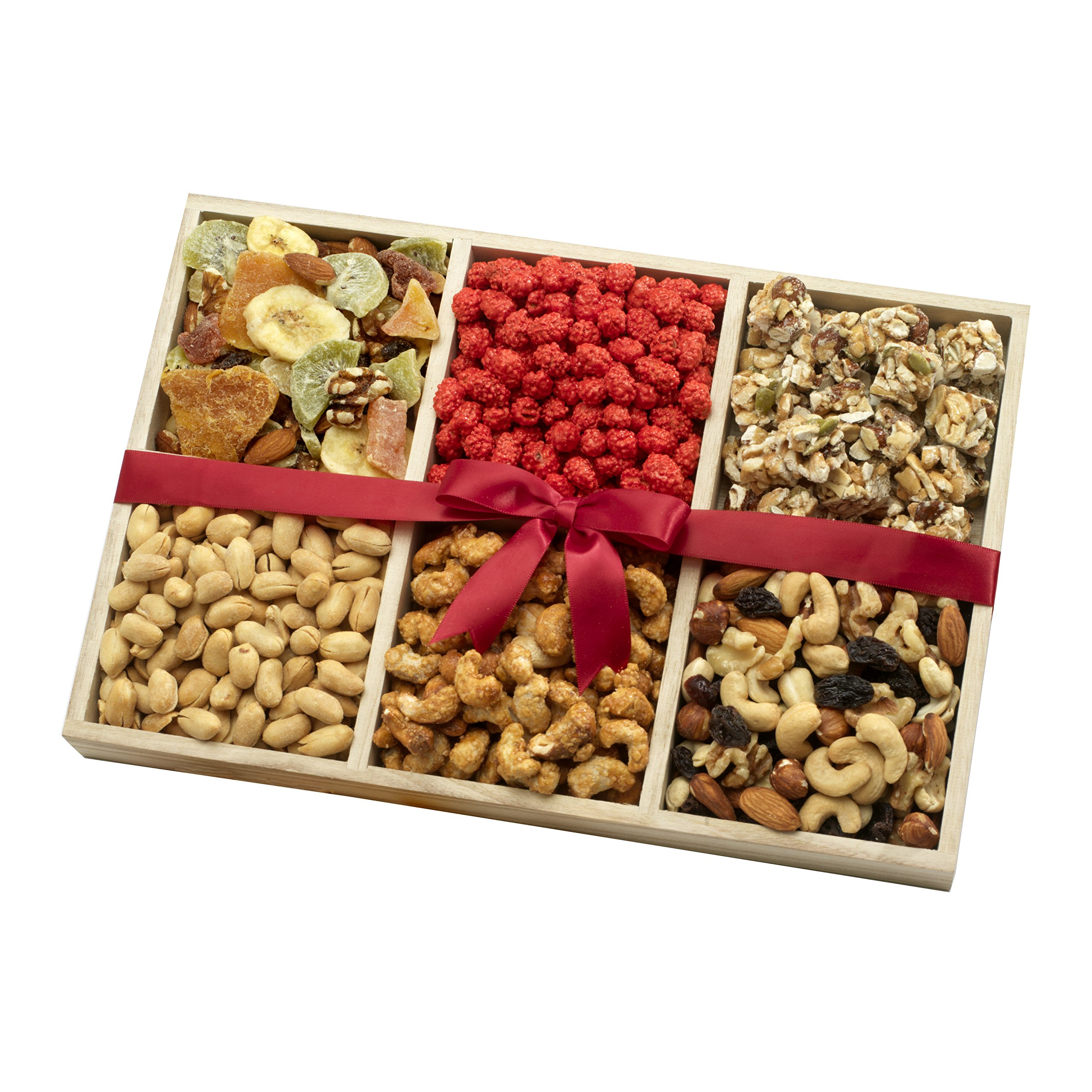Dried Fruit and Nut Party Gift Tray, 2.5lb, A Healthy Gift Basket by Broadway Basketeers