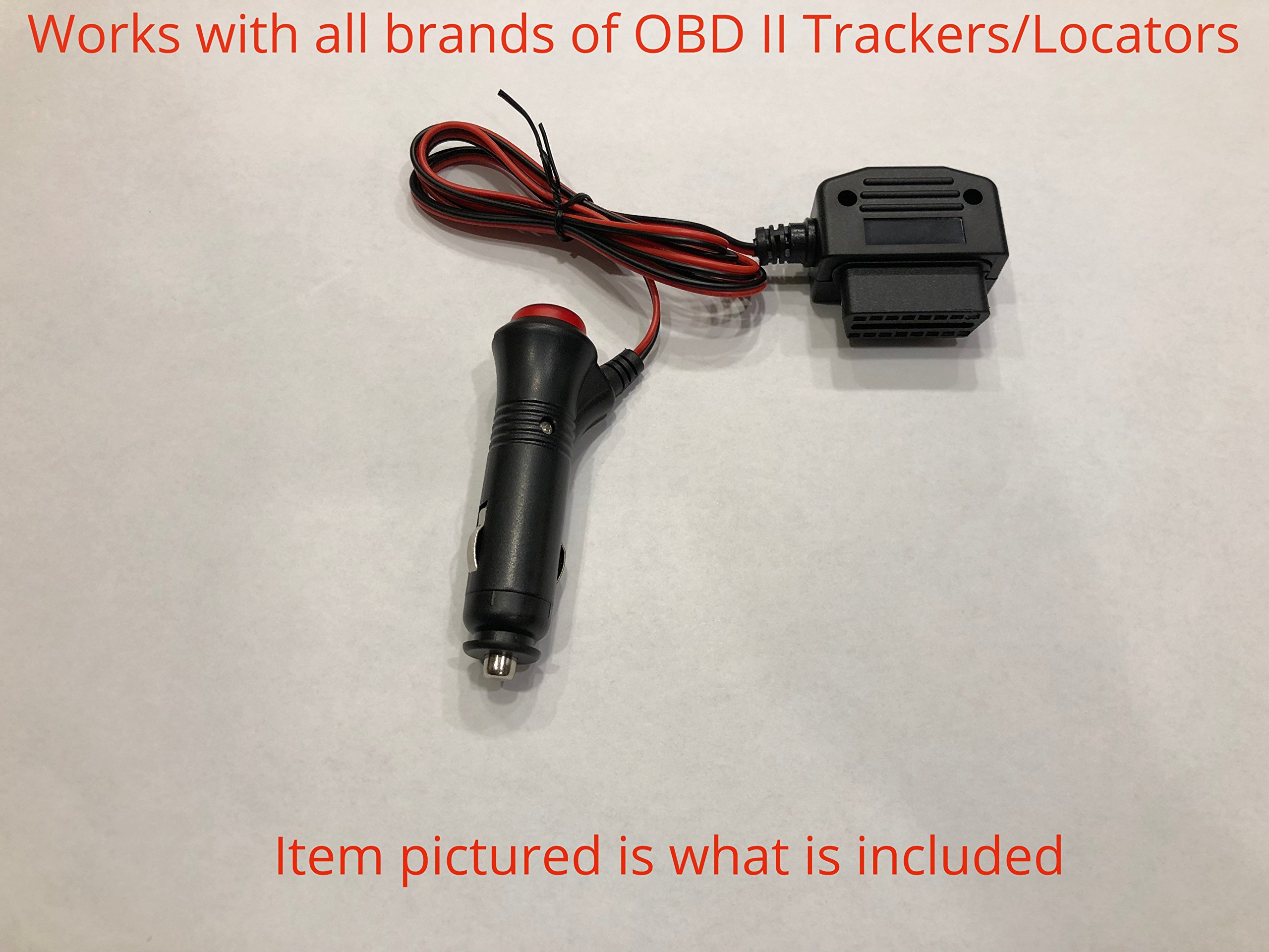 OBD ll GPS Tracker Power Supply Adapter with ON/OFF switch 12v oultet