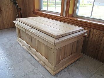 infinite cedar premium quality 40 in cedar 20gallon storage bench
