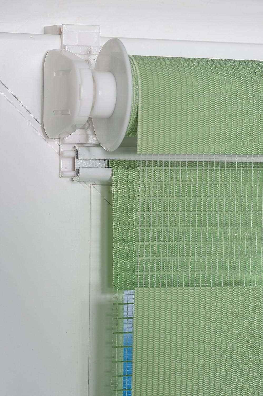 K-home Klemmfix Doppelrollo Madrid ohne Bohren, Stoff, Grau, 85 x x x 200 cm, B01H1Z0UV0 Plissees 77c3e2