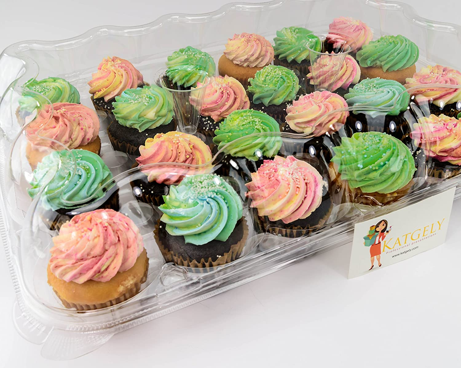 amazon com katgely cupcake boxes cupcake containers 24 pack