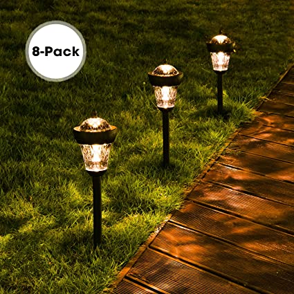 Solar Lights Outdoor, DecorNova Waterproof Solar Pathway Lights Landscape  Lighting with 2 LEDs For Outdoor - Amazon.com : Solar Lights Outdoor, DecorNova Waterproof Solar