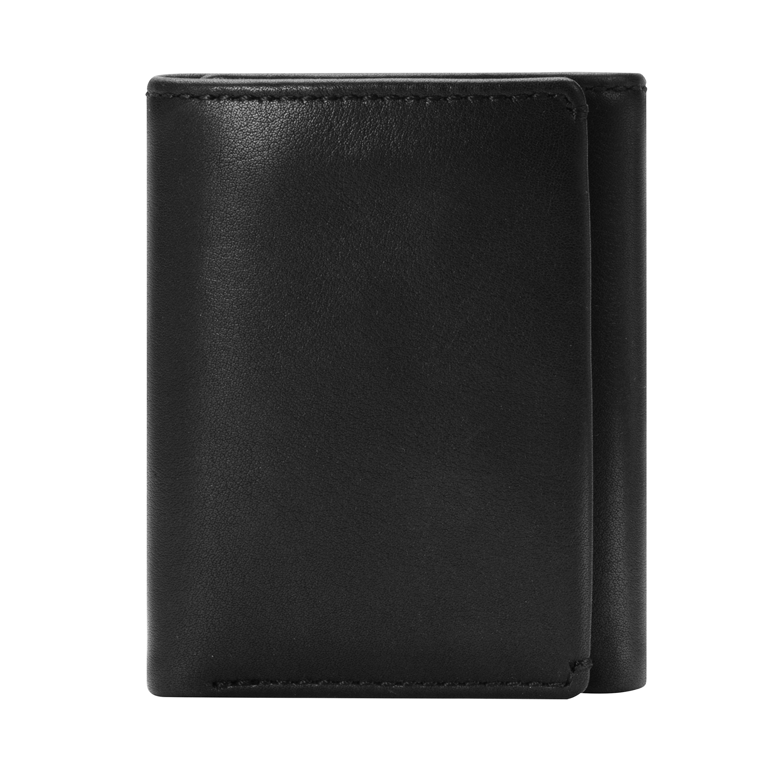 HOJ Co. Eastwood Nappa TRIFOLD Wallet-Men's Leather Trifold Wallet-Divided Bill Compartment & ID Window