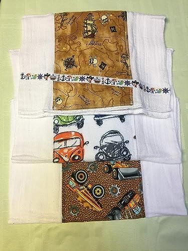 Handmade Burp cloths set of 3