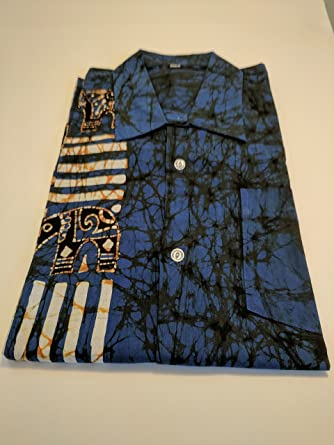 competitive price 07439 7d844 Amazon.com: Shirt Men Batik: Clothing