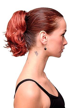 Wig Me Up Haarteil Zopf Extension Rot Kupferrot Kupfer Kurz Wilder Look Befestigung Mit Butterfly Klammer 20 Cm T6545 350
