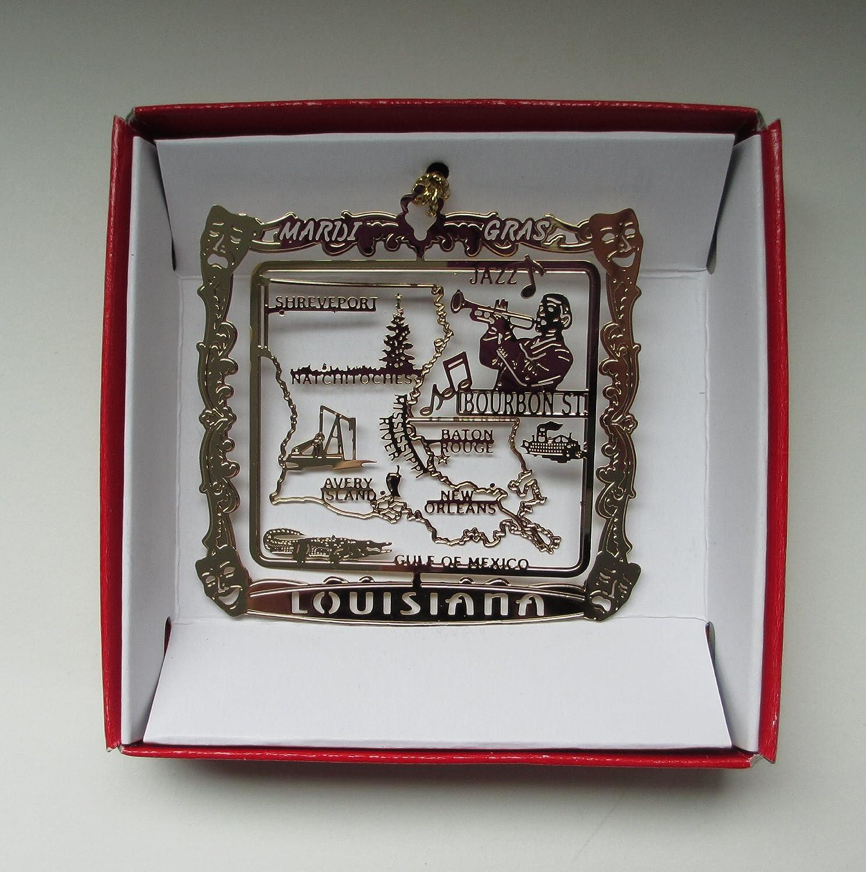 Louisiana State Ornament 50 states State Ornament United States State pride Louisiana Ornament custom ornament