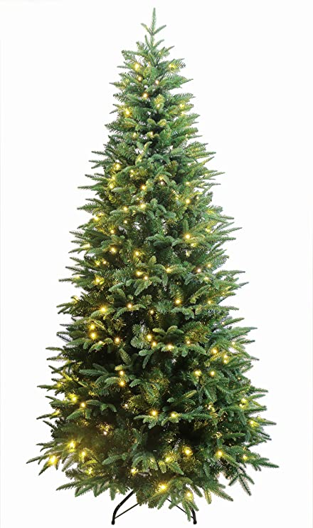 HOLIDAY STUFF Luxury Real Feel Forest Fir Slim Christmas Tree Pre-lit with  Dual Color - Amazon.com: HOLIDAY STUFF Luxury Real Feel Forest Fir Slim Christmas