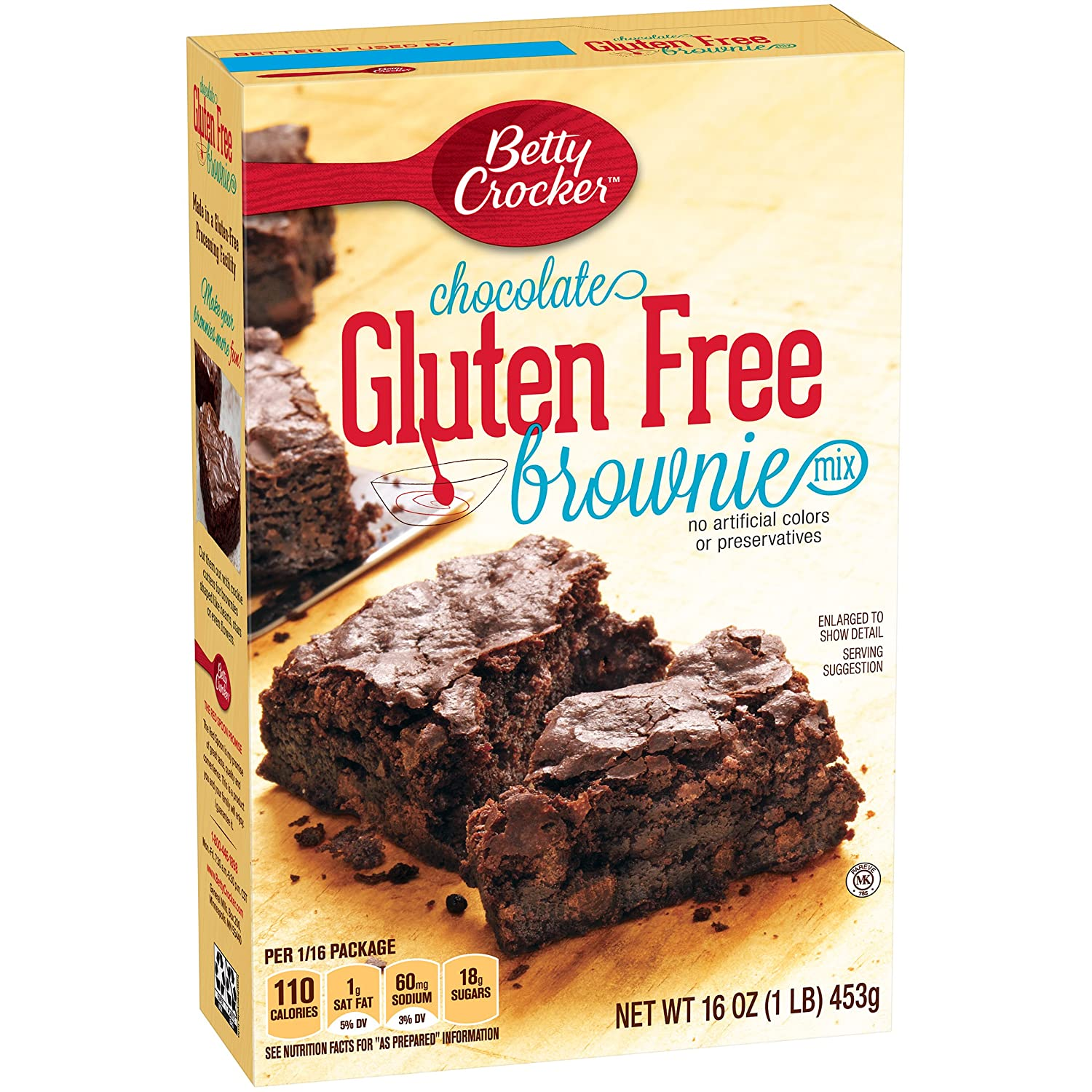 Amazon.com : Betty Crocker Gluten Free Brownie Mix, 16-Ounce Boxes ...