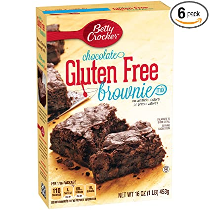 Betty Crocker Brownie mezclar, última intervensión de gluten ...