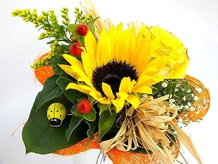 """Blumenstrauß""""Sonnenlicht"""" + kostenlose Glückwunschkarte:  Garten"""