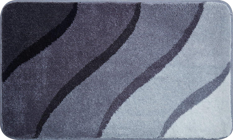 Grund Badteppich 100% Polyacryl, ultra soft, rutschfest, ÖKO-TEX-zertifiziert, 5 Jahre Garantie, DUNA, Badematte 70x120 cm, grau
