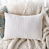 Pillows for Sleeping, CertiPUR-US, Registered with FDA Shredded Memory Foam Pillow with Thickened Foam Pillowcase for Neck Pain Relief, Side Back Stomach Sleeper, Hypoallergenic by Sable, Queen