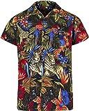 Red Star Mens Hawaiian Shirt Short Sleeve STAG Beach Holiday Jungle Animal Fancy Dress Hawaii - All Sizes