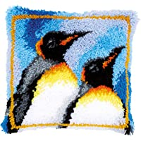 Vervaco Latch Hook Kit: Cojín: King Penguins, N\A