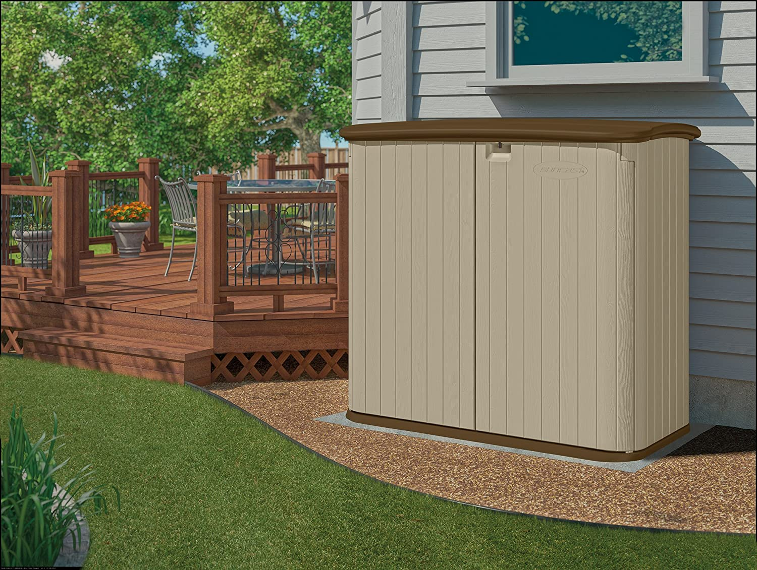 Superieur Amazon.com : Suncast BMS3200 Horizontal Storage Shed : Outdoor Storage :  Garden U0026 Outdoor