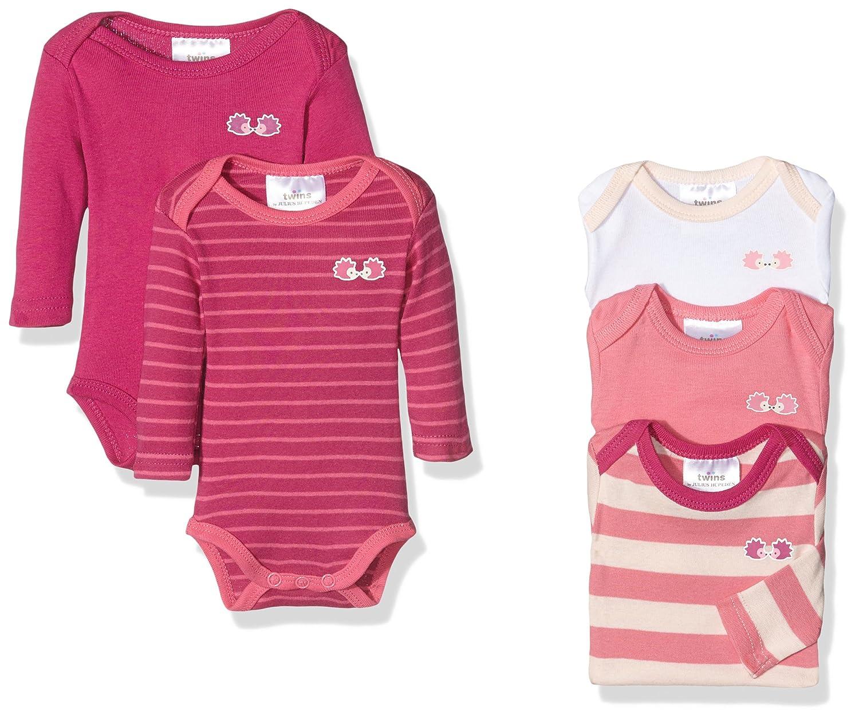 Twins Baby-Mädchen Body Langarm, 5er Pack Julius Hüpeden GmbH 2 104 60