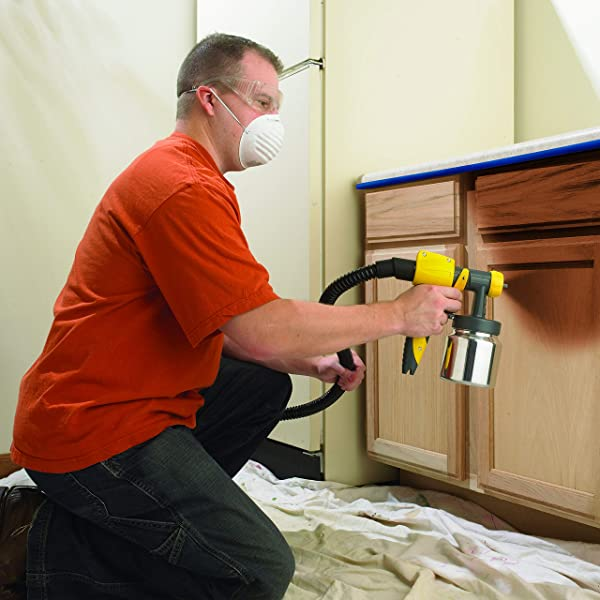 Spray painting cabinets with latex paints
