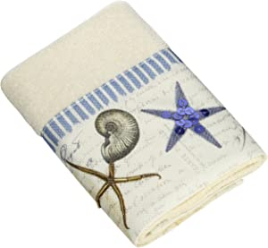 Avanti Linens Antigua Wash Cloth, Ivory