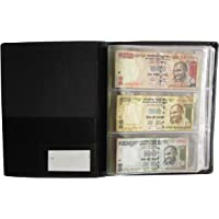 Generic Nawkaar9 Paper Currency Collection Album for 72 Notes, (Black)