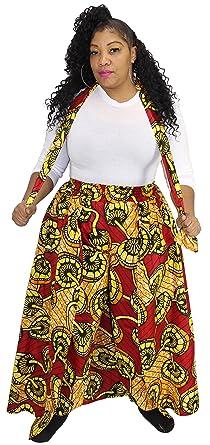 923adc27cd7e2 Amazon.com  African Planet Women s Elastic Waist Skirt Pants (J ...