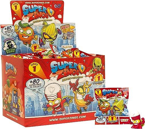 Superzings SZ1P0100 - Rivales de Kaboom, Caja con 50 sobres,un paquete: Amazon.es: Juguetes y juegos