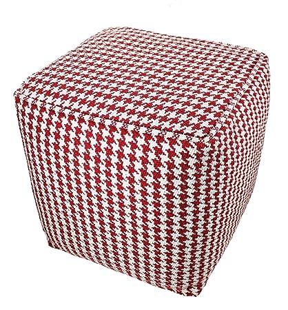 Brandwave Pouf Round Elegant Knit Pouf Seat Furniture