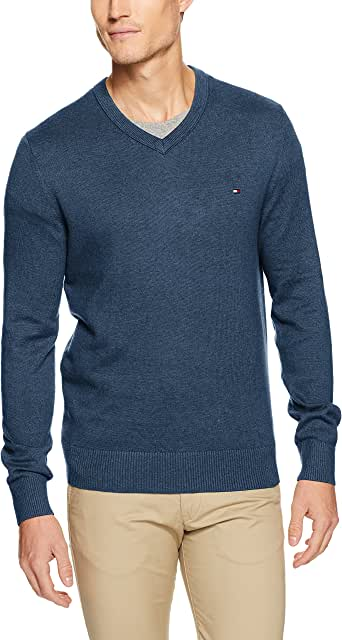 Tommy Hilfiger Men's Pima Cotton Cashmere V-Neck Sweater