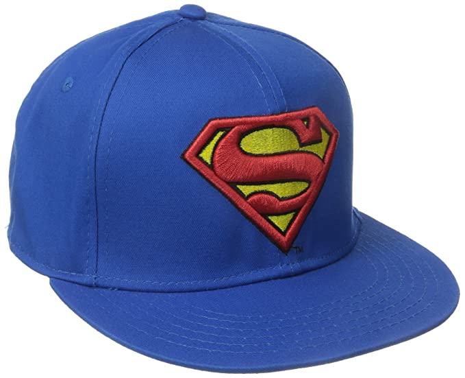 DC Comics Men s Superman Flat Brim Snap Back Hat e330bb3e870d