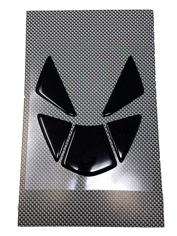 Noir 13,5 x 12 cm Augusta F3 Protection R/éservoir Adh/ésive 3D pour Motos Type Originel M.V