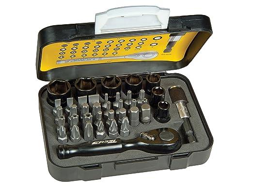 18 opinioni per Stanley Tech3 Set Inserti con Porta Inserti Magnetico e Cricchetto, 39 Pezzi