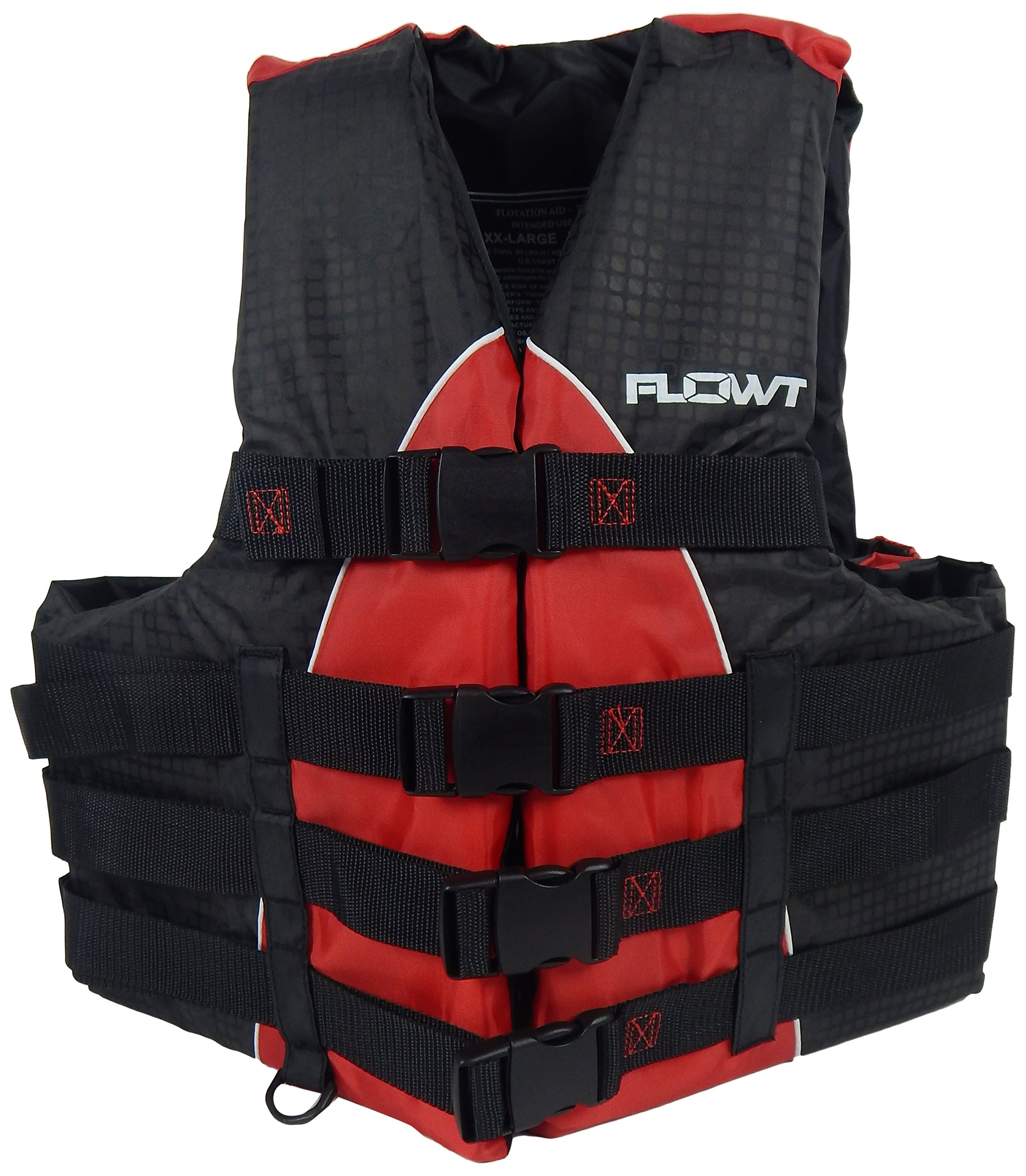 Flowt 40402-2-L/XL Extreme Sport Life Vest, Type III PFD, Closed Sides, Red, Large / Extra Large, Fits chest sizes 40'' - 50'' by Flowt