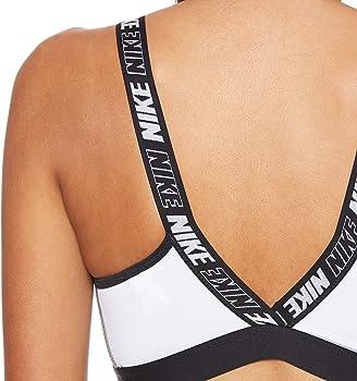 Nike SPRT DSTRT Classic Bra Sports, Mujer, White/Carbon Heather ...