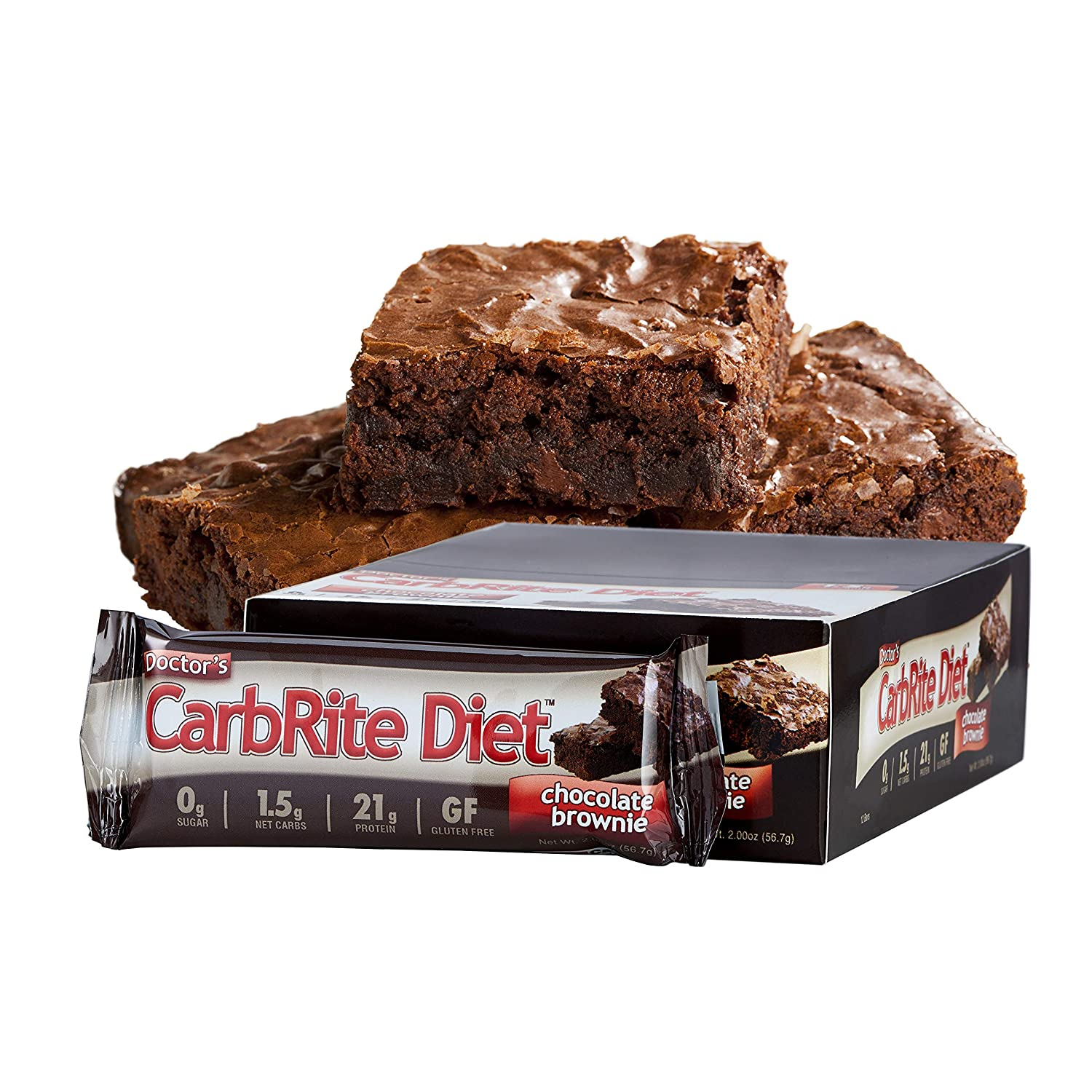 Universal Nutrition CarbRite Diet Bar Chocolate Brownie - 12 Barras: Amazon.es: Salud y cuidado personal