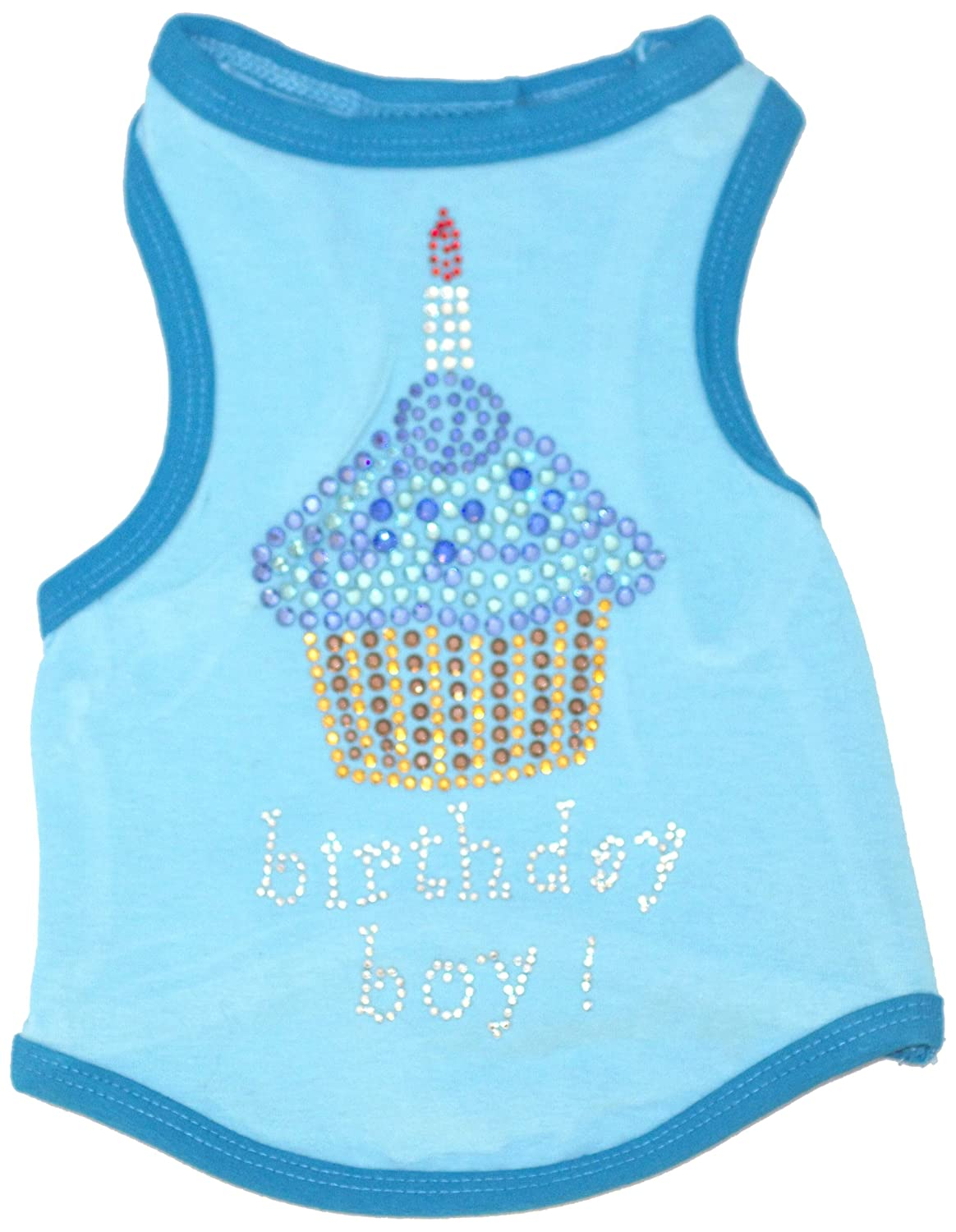 The Dog Squad Birthday Cupcake Pet Apparel, Medium, bluee